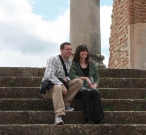 Lexie and her husband, Jeff, during their trip to Morocco with Compassion Corps.