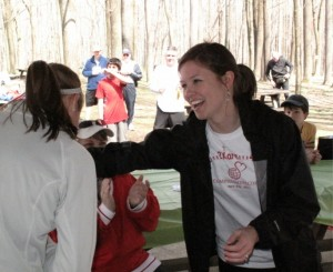 Lexie, handing out awards after a 5K2Kare4Kids event