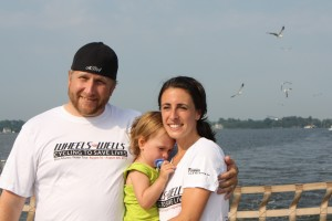 Jim, Rita & their daughter, Isa…During the 2011 Wheels for Wells trip.